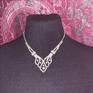 Rhinestone necklace choker